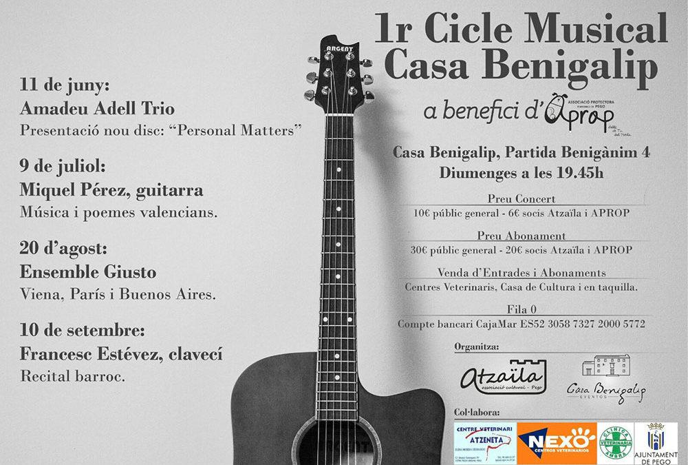 1r Cicle Musical Casa Benigalip. Miquel Pérez Perelló Música y poemas valencianos.