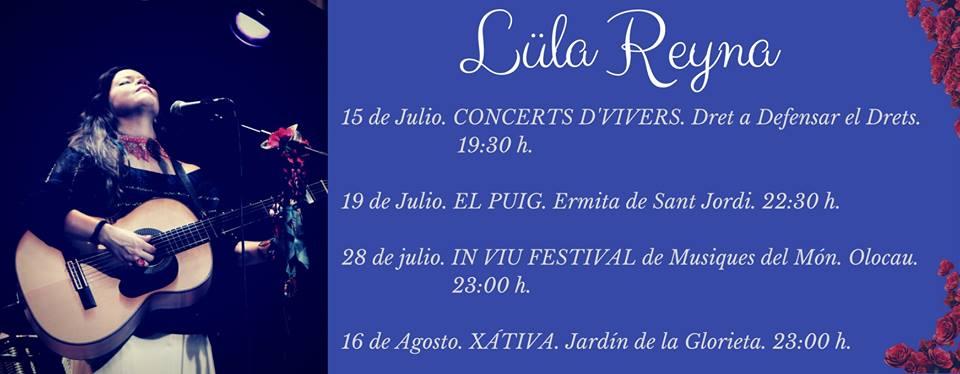 Amb l'artista mejicana Lula Reyna. El Puig