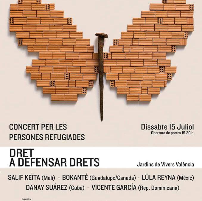 Concert per a les persones refugiades.  Con la artista mejicana Lula Reyna
