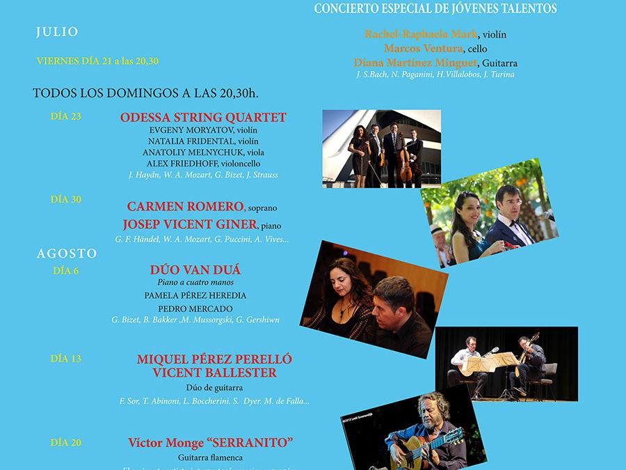 Noches Poético-musicales de la Fundación Ithaca. Dúo de guitarras Vicent Ballester i Miquel Pérez Perelló.