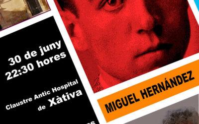 Audio de la entrevista en Xtradio sobre el recital de Miguel Hernández en Xàtiva. MEDIO: XTRADIO