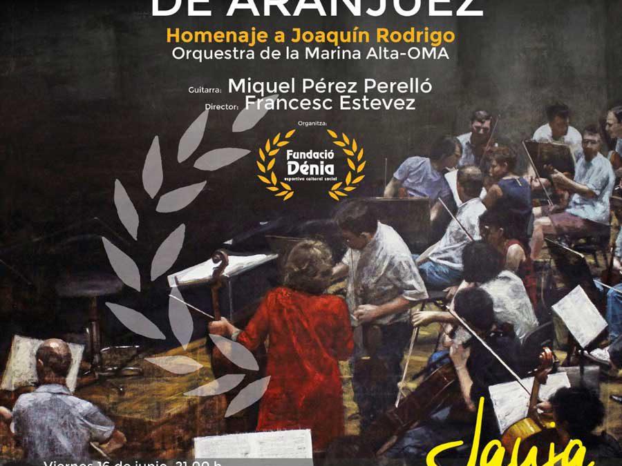 'Concierto de Aranjuez': Presentación del CD 'Homenaje a Joaquín Rodrigo' por la OMA y Miquel Pérez como guitarra solista -Dénia-