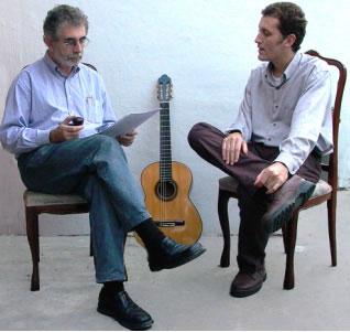 Dueto de voz con guitarra (ensayo)