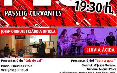 Recitals musicats. Lluvia ácida i Josep Orihuel amb Clàudia Ortolà