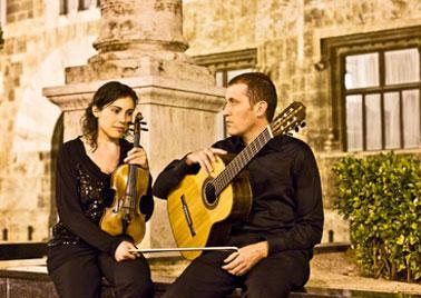 Con la violinista Sandra Alfonso
