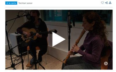 Entrevista en el programa «Territori sonor» de «À Punt» para presentar el nuevo trabajo «Sin meta ni rumbo»