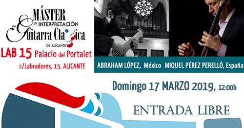"""Recital de guitarra- """"Palacio del Portalet"""" (Alicante)"""