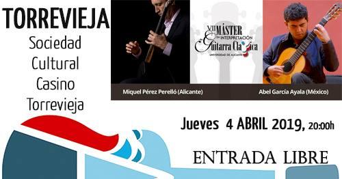 Recital de guitarra – Casino Cultural de Torrevieja