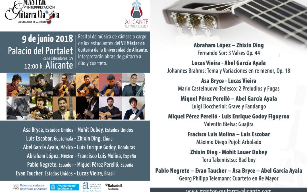 Chamber music recital – Master guitarra Alicante
