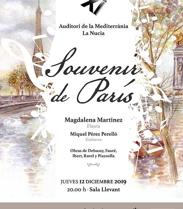 «Souvenir de Paris» con Magdalena Martínez (flauta)
